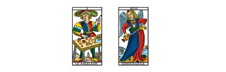 combinaisons de paires du Tarot