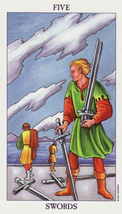 5 of swords - Rider
