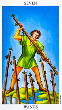 7 of wands rider
