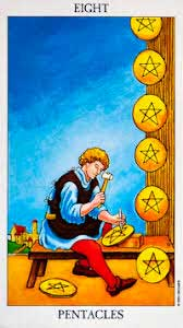 8 of pentacles - rider